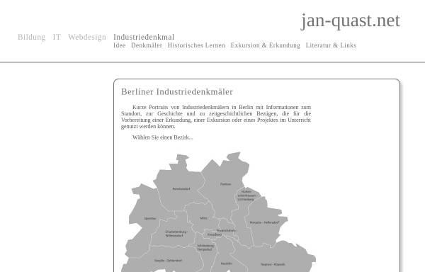 Vorschau von www.jan-quast.net, Industriedenkmäler