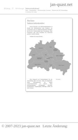 Vorschau der mobilen Webseite www.jan-quast.net, Industriedenkmäler
