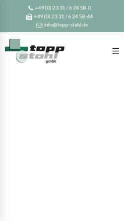 Vorschau der mobilen Webseite www.topp-stahl.de, Topp-Stahl GmbH