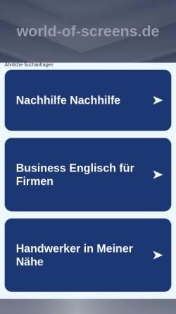 Vorschau der mobilen Webseite www.world-of-screens.de, World-of-Screens GmbH