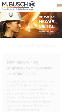 Vorschau der mobilen Webseite www.m-busch.de, M. Busch GmbH & Co. KG