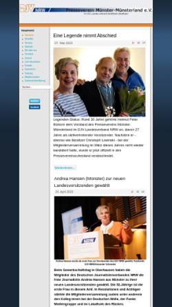 Vorschau der mobilen Webseite www.presseverein-muenster-muensterland.de, DJV Presseverein Münster-Münsterland e.V.