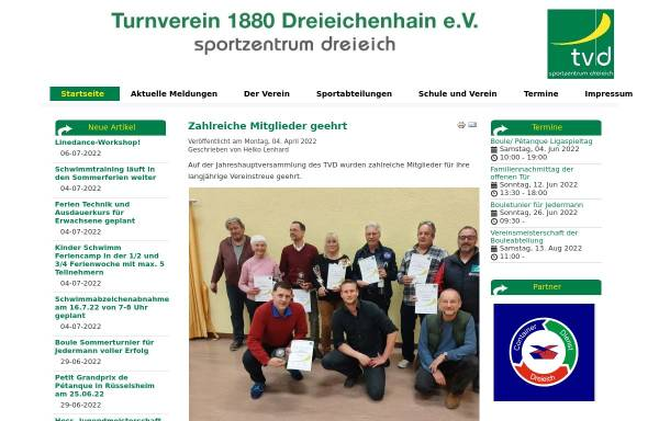 Vorschau von turnverein-dreieichenhain.de, Turnverein 1880 Dreieichenhain