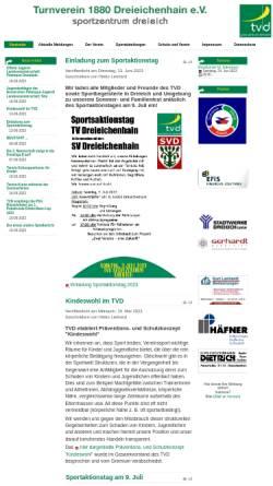 Vorschau der mobilen Webseite turnverein-dreieichenhain.de, Turnverein 1880 Dreieichenhain