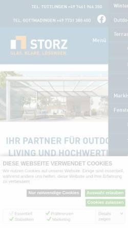 Vorschau der mobilen Webseite www.glasbau-storz.de, Storz Glas- und Metallbau GmbH