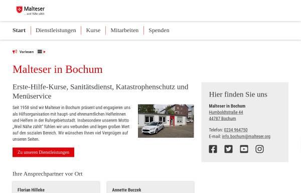 Vorschau von www.malteser-bochum.de, Malteser Hilfsdienst e.V., Kreisverband Bochum / Ennepe-Ruhr