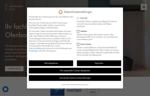 Vorschau von www.die-ofen-manufaktur.de, Dislich GmbH & Kohler GbR