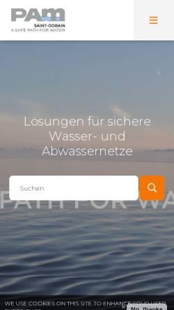 Vorschau der mobilen Webseite www.gussline.de, Saint Gobain Gussrohr GmbH & Co KG