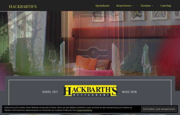 Vorschau von www.hackbarths.de, Hackbarth's Restaurant