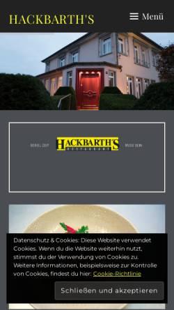 Vorschau der mobilen Webseite www.hackbarths.de, Hackbarth's Restaurant
