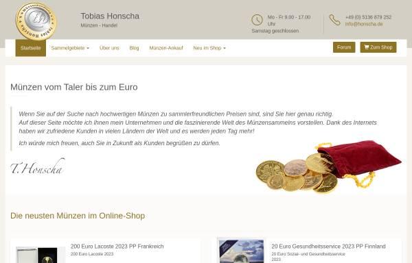 Vorschau von www.honscha.de, Münzenhandlung Tobias Honscha