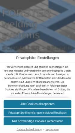 Vorschau der mobilen Webseite foerster-gmbh.de, Förster GmbH