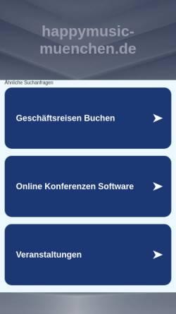 Vorschau der mobilen Webseite www.happymusic-muenchen.de, Happymusic