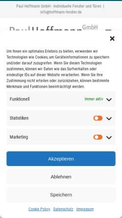 Vorschau der mobilen Webseite hoffmann-fenster.de, Paul Hoffmann GmbH