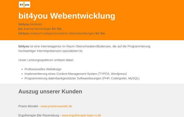 Vorschau von www.bit-4-you.de, bit4you Internetservice