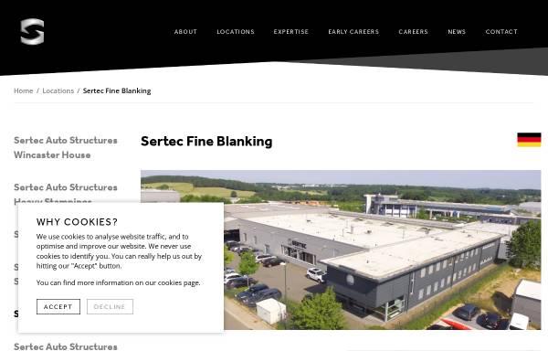Vorschau von www.sertec.co.uk, BFL Feinstanzteile GmbH