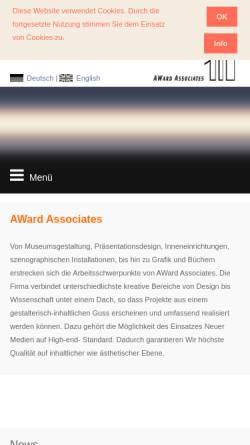 Vorschau der mobilen Webseite award-associates.com, Award Associates