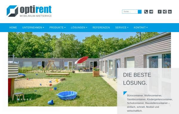 Vorschau von www.optirent-mietservice.de, Optirent Mobilraum-Mietservice GmbH