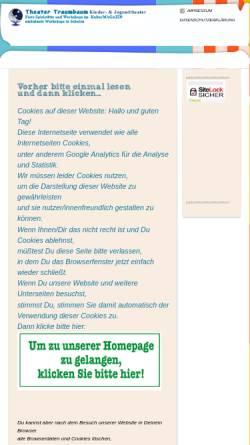 Vorschau der mobilen Webseite theater-traumbaum.de, Kinder- & Familientheater TRAUMBAUM