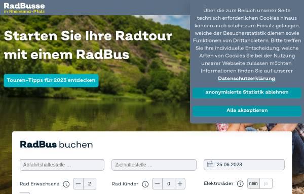 Vorschau von regioradler.de, RegioRadler - Zweckverband Schienenpersonennahverkehr Rheinland-Pfalz