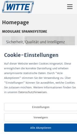 Vorschau der mobilen Webseite www.witte-barskamp.de, Horst Witte Gerätebau