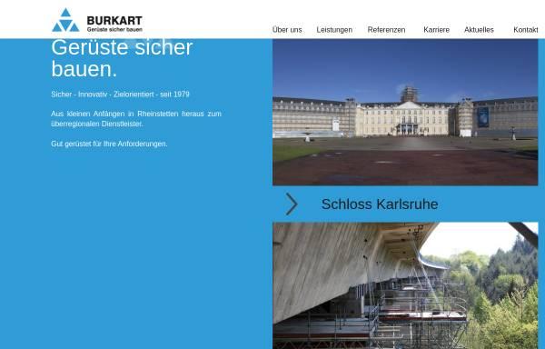 Vorschau von www.burkart-geruestbau.de, Burkart Gerüstbau GmbH