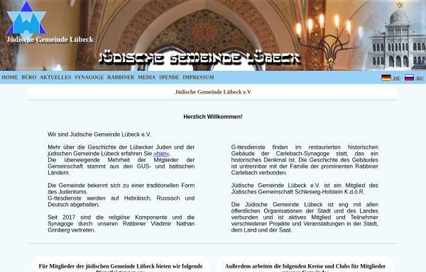 Vorschau von www.jg-luebeck.derunet.de, Jüdische Gemeinde Luebeck