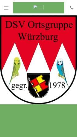 Vorschau der mobilen Webseite www.dsv-ortsgruppe-wuerzburg.de, WellensittichZüchter