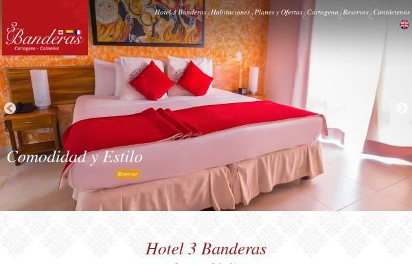 Vorschau von www.hotel3banderas.com, Hotel Tres Banderas