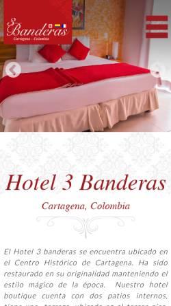 Vorschau der mobilen Webseite www.hotel3banderas.com, Hotel Tres Banderas
