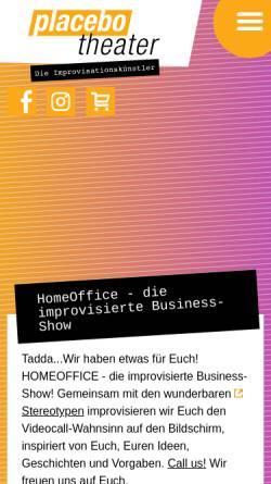 Vorschau der mobilen Webseite www.placebotheater.de, Placebotheater Münster