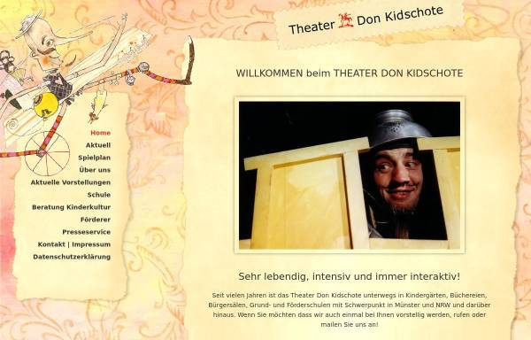 Vorschau von www.theater-don-kidschote.de, Theater Don Kid`schote