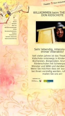 Vorschau der mobilen Webseite www.theater-don-kidschote.de, Theater Don Kid`schote