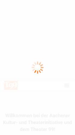 Vorschau der mobilen Webseite www.akut-theater99.de, Theater 99 / AKuT e.V.