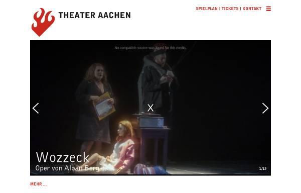 Vorschau von www.theater-aachen.de, Theater Aachen