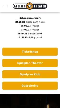 Vorschau der mobilen Webseite www.ateliertheater.de, Atelier Theater