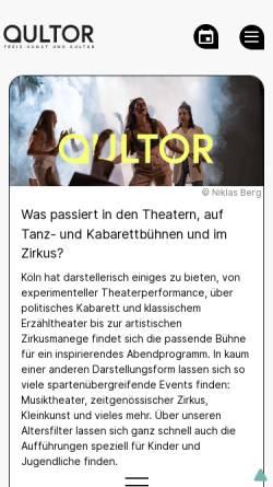 Vorschau der mobilen Webseite www.theaterszene-koeln.de, Theaterszene Köln