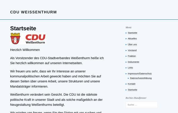 Vorschau von www.cdu-weissenthurm.de, CDU Stadtverband Weißenthurm