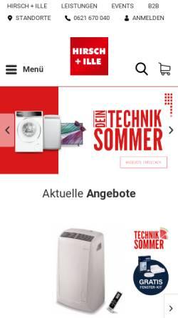 Vorschau der mobilen Webseite www.hirsch-ille.de, Hirsch und Ille