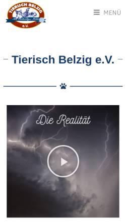 Vorschau der mobilen Webseite www.tierschutzverein-belzig.de, Tierschutzverein Belzig e.V.
