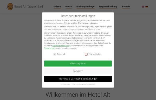 Vorschau von www.alt-duesseldorf.de, Hotel Alt Düsseldorf Ludwig