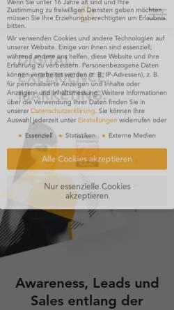 Vorschau der mobilen Webseite www.creative360.de, Creative360 Online-Marketing e.K.