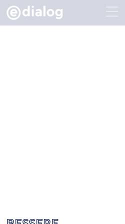 Vorschau der mobilen Webseite www.e-dialog.at, E-dialog GmbH