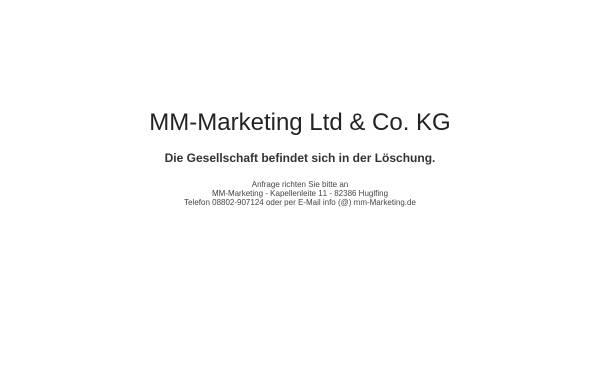 Vorschau von www.mm-marketing.de, MM-Marketing Ltd. & Co. KG