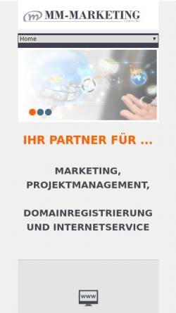 Vorschau der mobilen Webseite www.mm-marketing.de, MM-Marketing Ltd. & Co. KG
