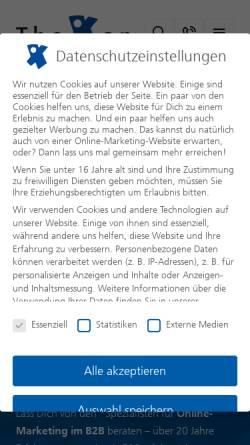 Vorschau der mobilen Webseite www.thoxan.com, Thoxan GmbH
