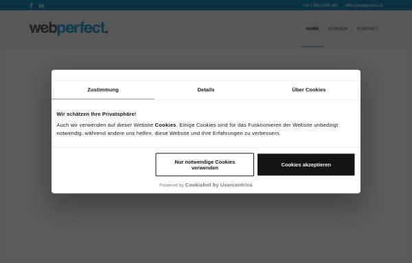 Vorschau von www.webperfect.at, WebPerfect Online Marketing, Inh. Harald Schrefl
