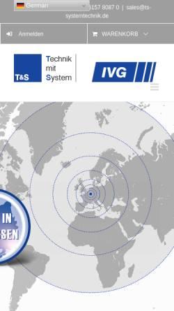 Vorschau der mobilen Webseite ts-systec.com, T&S Systemtechnik GmbH und IVG Systemtechnik GmbH