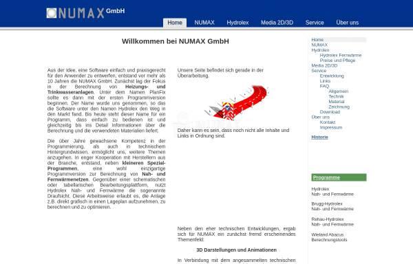 Vorschau von www.numax.de, Numax GmbH