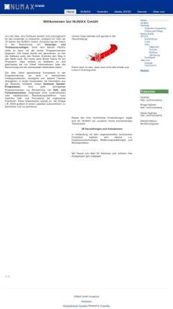 Vorschau der mobilen Webseite www.numax.de, Numax GmbH
